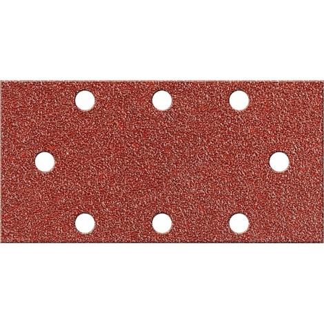 Papier abrasif Velcro rectangulaire Kor.93x178mm, K120,8L. FORTIS