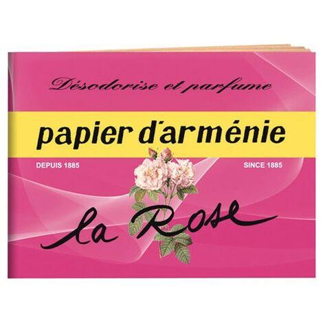 PAPIER ARMENIE LE CARNET LA ROSE (Vendu par 1)