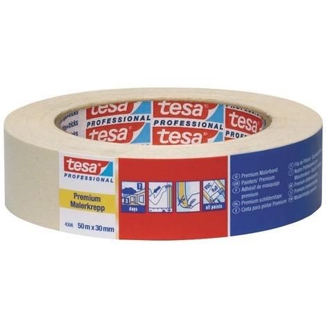 Papier de masquage pour travaux de peinture Tesa 4306 50mx50mm (Par 6)