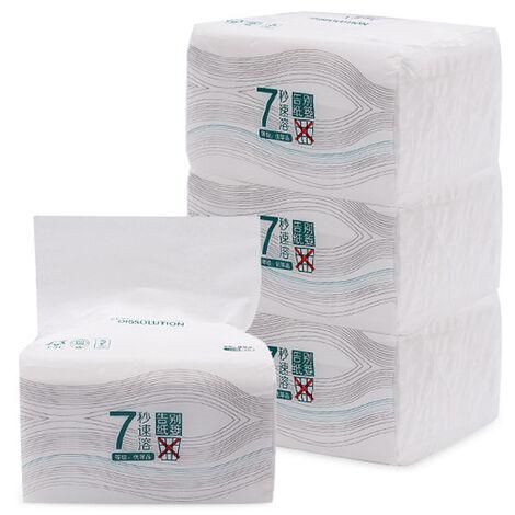 Papier De Pate De Bois Pur Domestique, 3 Couches, 150 Tirages Par Paquet, 8 Paquet