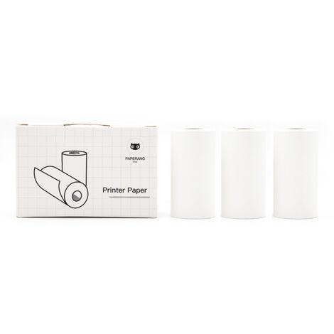 Papier D'Impression Thermique Compatible Avec Paperang Mini Pocket Imprimante P1 P2 P2S Papier 57 X 30 Mm 3 Rouleaux, Papier Autocollant Adhesif