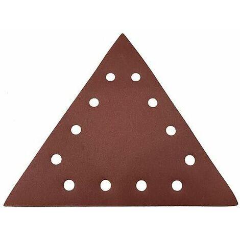 Papier emeri triangulaire K80 pour meuleuse mural et plafond TM LHS 710 D, emballage 25 pcs