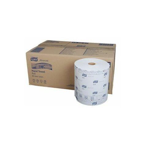 Papier essuie main Tork Advanced blanc 2 épaisseurs H1 6RII à 150 m