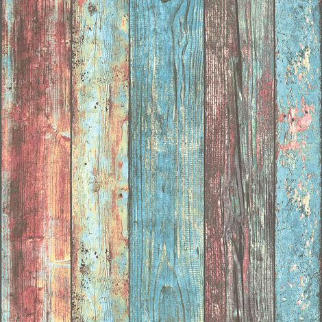 Papier peint 307231 A.S. Création Best of Wood`n Stone 2nd Edition | Papier peint Bleu Multicolore en ligne
