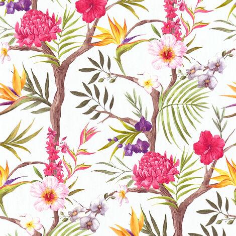 Papier peint 362021 A.S. Création Neue Bude 2.0 | Papier peint Blanc Orange Marron en ligne
