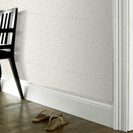 Papier Peint à peindre Vinyle 13M x 52cm Blanc