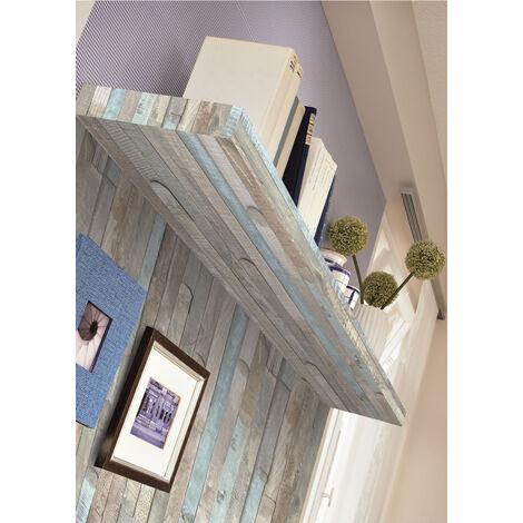 Papier peint adhésif décoratif pour meuble Beachwood gris 200 x 45 cm bois