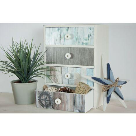 Papier peint adhésif décoratif pour meuble Beachwood gris 200 x 67,5 cm planches de bois