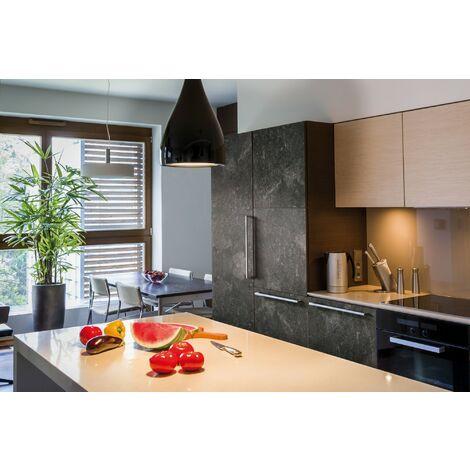 Papier peint adhésif décoratif pour meuble Concrete noir 200 x 45 cm béton