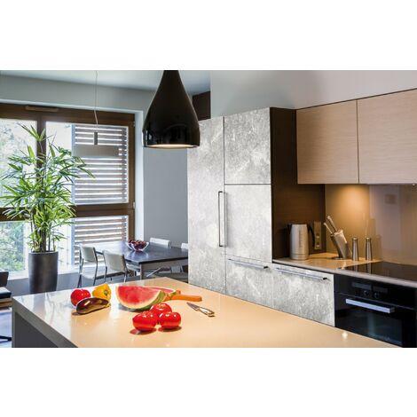 Papier peint adhésif décoratif pour meuble Concrete noir 200 x 67,5 cm béton
