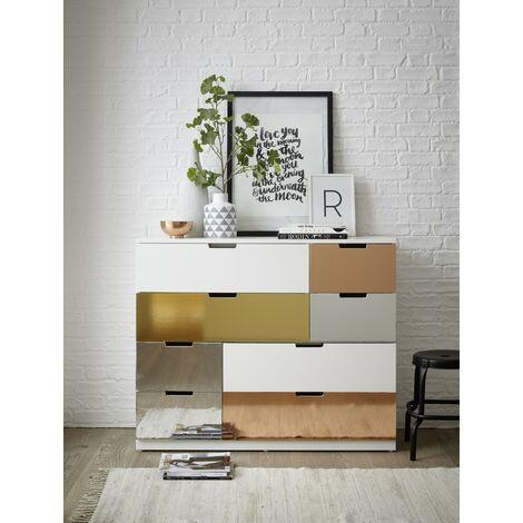 Papier peint adhésif décoratif pour meuble effet métallique Gold or 150 x 45 cm uni