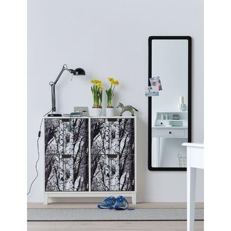 Papier peint adhésif décoratif pour meuble Forest noir blanc 200 x 67,5 cm forêt