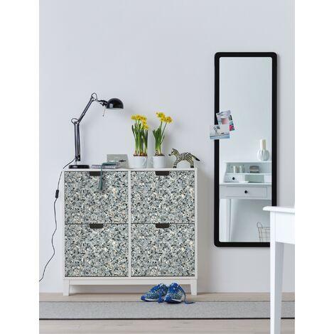 Papier peint adhésif décoratif pour meuble Grind bleu 200 x 67,5 cm gravier