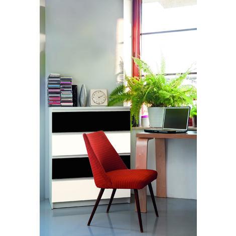 Papier peint adhésif décoratif pour meuble Laque noir 200 x 67,5 cm uni