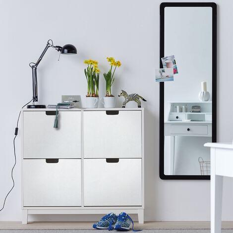 Papier peint adhésif décoratif pour meuble Leather blanc 200 x 45 cm cuir