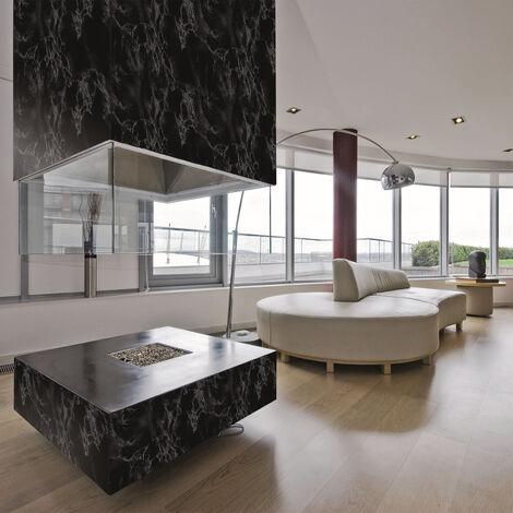 Papier peint adhésif décoratif pour meuble Marble noir 200 x 45 cm marbre