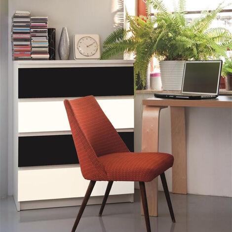 Film adhésif décoratif pour meuble Mat Uni 200 x 45cm Blanc