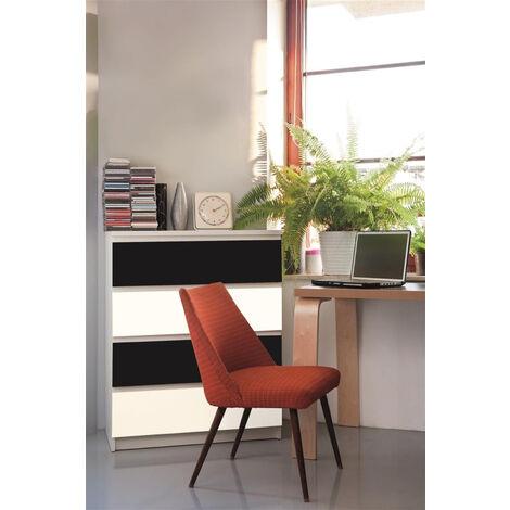 Papier peint adhésif décoratif pour meuble Mat blanc 200 x 67,5 cm uni