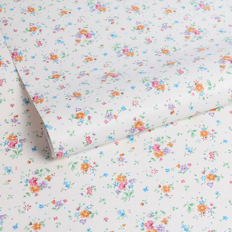 Papier peint adhésif décoratif pour meuble Mini Flower multicolore 200 x 45 cm fleurs