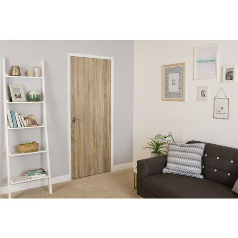 Papier peint adhésif décoratif pour meuble Oak Brown marron 200 x 45 cm bois