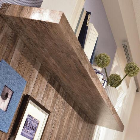 Papier peint adhésif décoratif pour meuble Oldwood marron 200 x 45 cm vieux bois