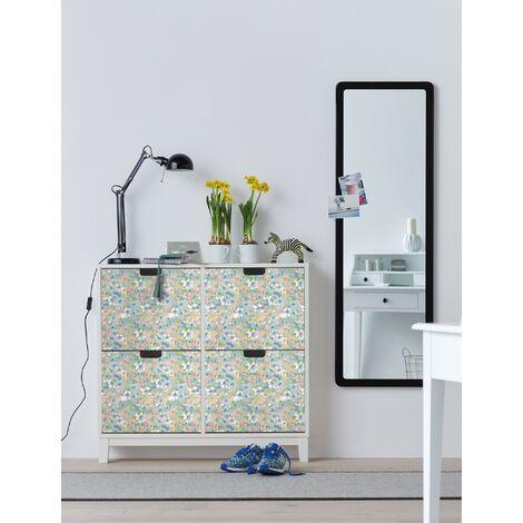 Papier peint adhésif décoratif pour meuble Romance multicolore 200 x 45 cm fleurs