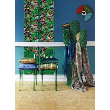 Papier peint adhésif décoratif pour meuble Tropical multicolore 150 x 45 cm nature