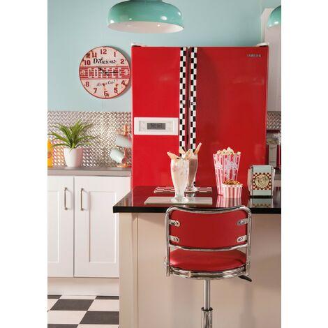 Papier peint adhésif décoratif pour meuble Uni rouge 200 x 45 cm uni