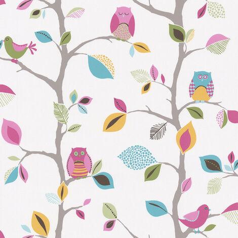 """main image of """"Papier peint arbre Papier peint enfant Papier peint papier Multicolore Jaune Vert 856326 - 10,05 x 0,53 m"""""""