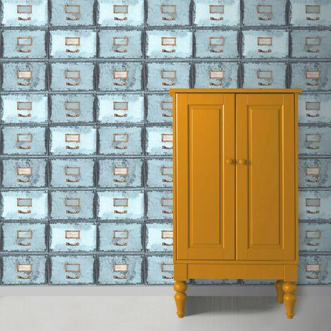 Papier Peint Armoire bleu 1005 x 52cm