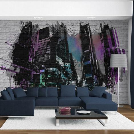 Papier peint - Art urbain : Grande ville moderne 450x270