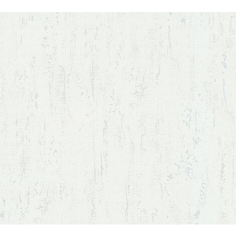 Papier peint aspect pierre carrelage Profhome 364302-GU papier peint intissé légèrement texturé unicolor mat blanc 5,33 m2