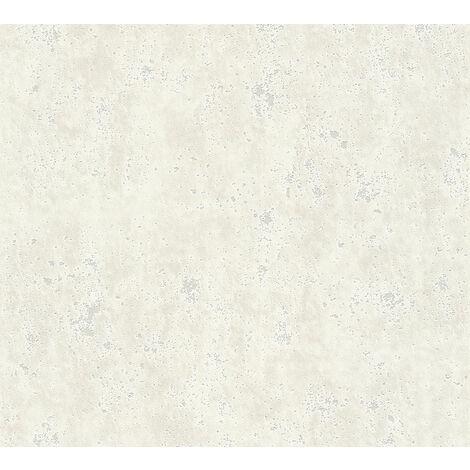 Papier peint aspect pierre carrelage Profhome 366002-GU papier peint intissé lisse unicolor mat crème 5,33 m2