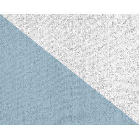 Papier peint baroque EDEM 83002BR60 Papier peint intissé à peindre texturé avec des ornements mat blanc 26,50 m2