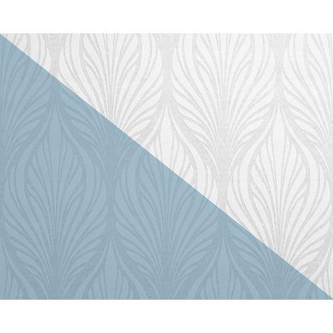 Papier peint baroque EDEM 83003BR60 Papier peint intissé à peindre texturé avec un dessin graphique mat blanc 26,50 m2