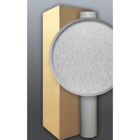 Papier peint blanc non-tissé à peindre texture fine rayure EDEM 80374BR60 1 carton à 5 roul. 132 m2