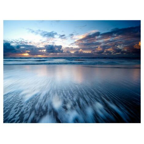 Papier peint - bleu, bleu océan .Taille : 300x231