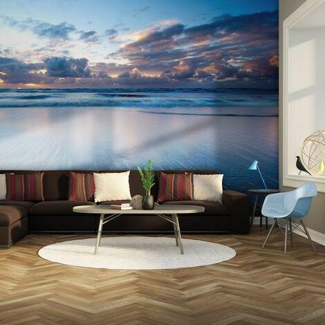 Papier peint - bleu, bleu océan .Taille : 400x309