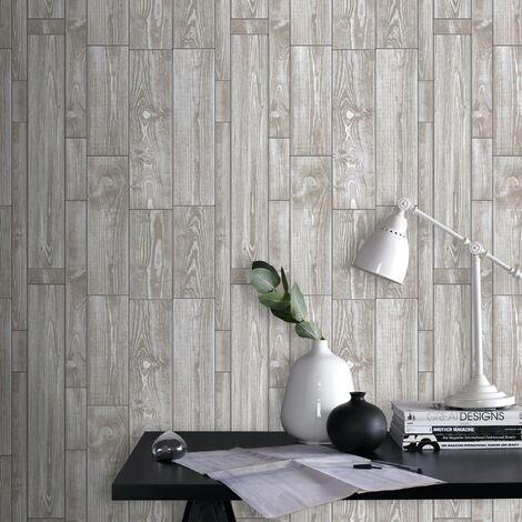 Papier Peint Bois Textur beige 1005 x 52cm
