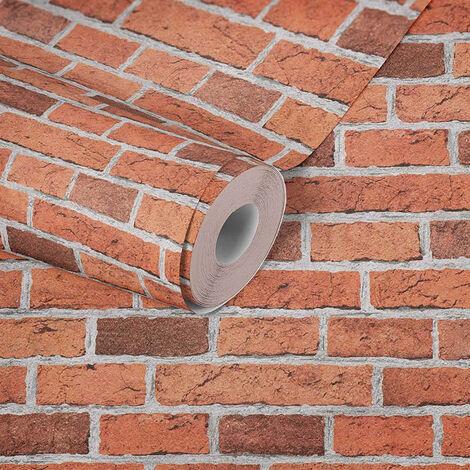 Papier peint brique imitation rouge pour la cuisine chambre salon 779816 A.S. Création Dekora Natur 5
