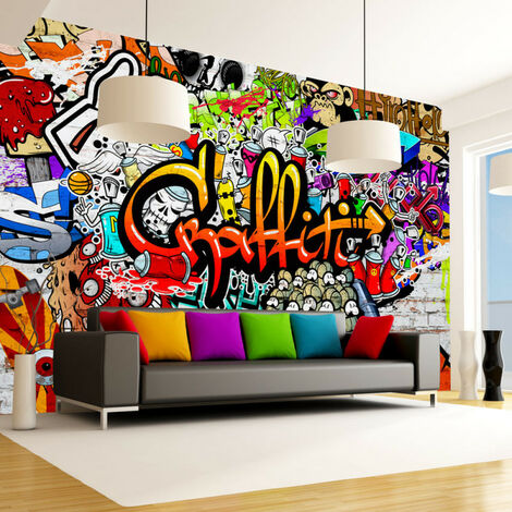 Papier peint - Colorful Graffiti 400x280