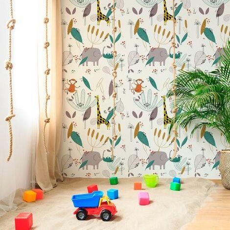Papier peint design auto adhésif enfance IN THE JUNGLE 65x260cm - vendu par 2 lés