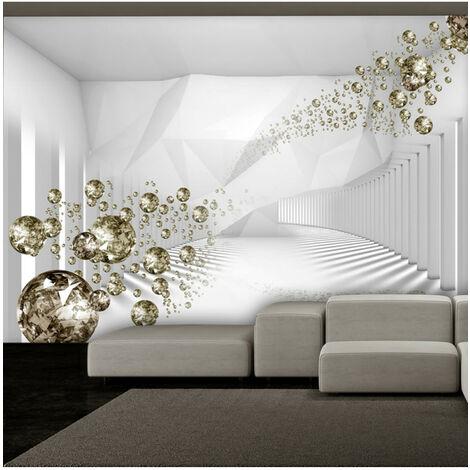 Papier peint - Diamond Corridor (Grey) 400x280