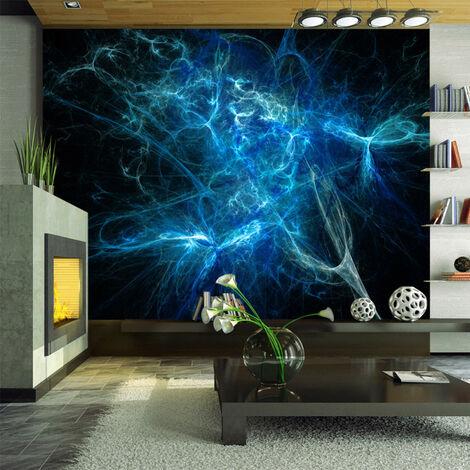 Papier peint - Éclairs bleus 200x154
