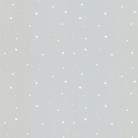 Papier peint enfant LUTECE pluie d'étoiles Gris 10 m x 0,53 m - Gris