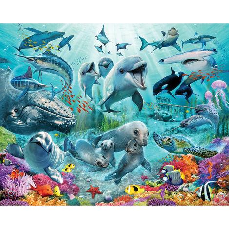 Papier peint enfant monde sous-marin Walltastic 305X244 CM