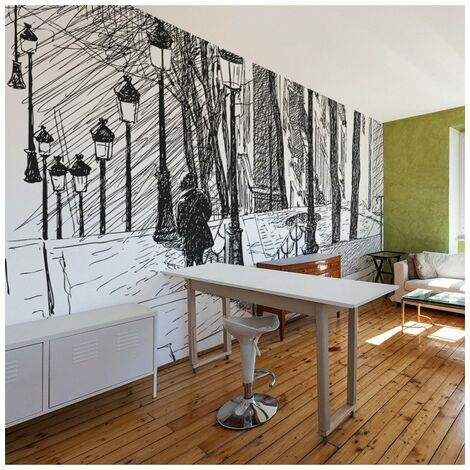 Papier peint - escaliers - Montmartre 450x270