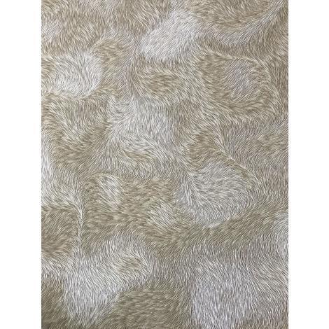 Papier peint exclusif Profhome 822301 papier peint vinyle gaufré d'aspect de fourrure brillant gris blanc-crème beige 5,33 m2