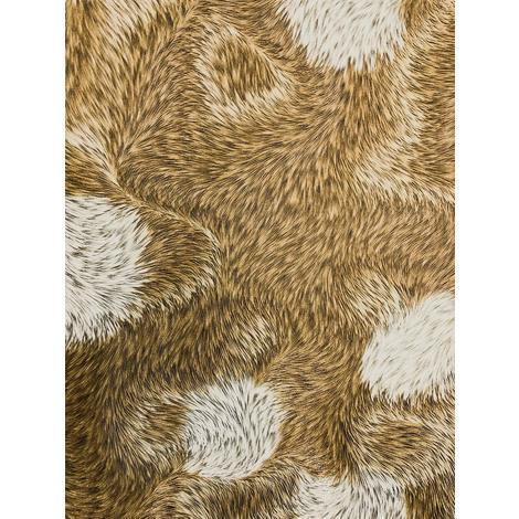 Papier peint exclusif Profhome 822305 papier peint vinyle gaufré d'aspect de fourrure brillant bronze blanc-crème gris kaki 5,33 m2