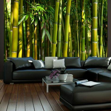 Papier peint - Forêt de bambous asiatique .Taille : 250x193